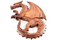 Kategoriebild Holz-Wandschmuck Drachen