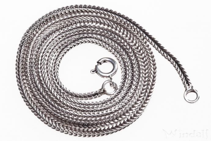 Dunkle Mittelalter Halskette ~ ALUSIA ~ l: 51 cm - Silber - Windalf.de