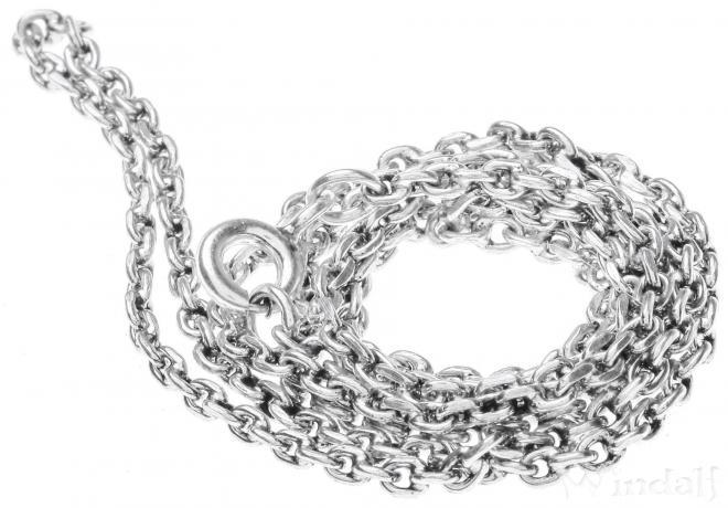Zarte Dunkle Halskette ~ NOIRA ~ 45 cm - Silber - Windalf.de
