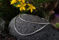 Halskette ~ ALANA ~ l: 40 cm - Silber - Windalf.de