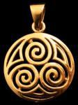 Anhänger ~ DARYA ~ Spirals - Bronze - Windalf.de