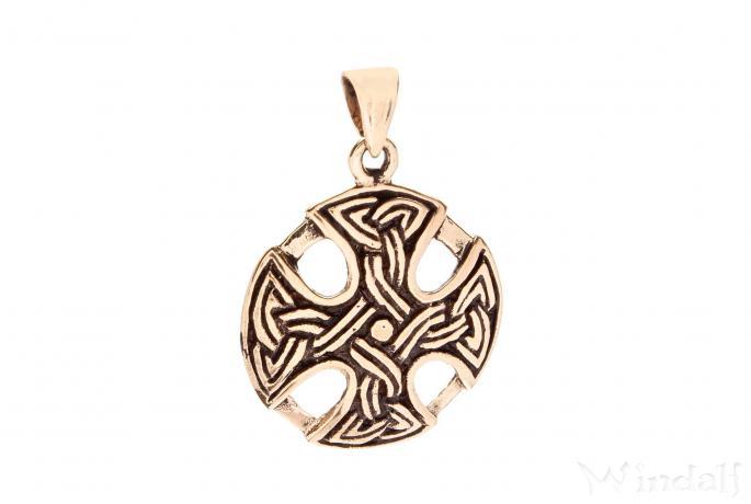 WINDALF Schmuck Anhänger ARIAN 2,5 cm Keltisches Kreuz Bronze