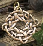 Schmuck Anhänger ~ DUNCAN ~ Keltischer Knoten - 4 Elemente -  Vintage Bronze - Windalf.de