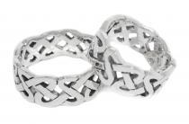 Celtic Freundschafts-Ring ~ LUCAN ~ h: 0.8 cm - Keltischer Knoten - Silber - Windalf.de