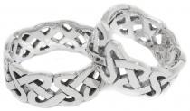Celtic Freundschafts-Ring ~ LUCAN ~ 8 mm - Keltischer Knoten - Silber - Windalf.de