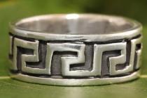 Männer Ring ~ TORCAN ~ 9 mm - Ornamentik - Antik Silber - Windalf.de