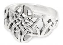 Celtic Damen Ring ~ YARA ~ h: 1.5 cm - Keltischer Knoten ~ Silber - Windalf.de