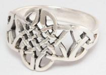 Keltischer Damenring ~ YARA ~ Keltischer Knoten ~ Silber - Windalf.de