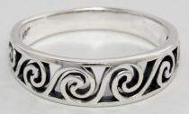Keltischer Ring ~ MORGÂINE ~ Celtic Spirals ~ Silber - Windalf.de