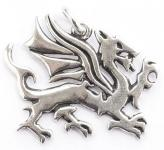 Drachen Anhänger ~ TULVIR ~ Walisischer Drache - Pendragon - Silber - Windalf.de
