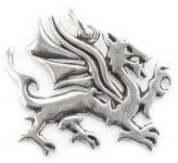 Drachen-Anhänger ~ TULVIR ~ 3 cm - Walisischer Drache - Pendragon - Silber - Windalf.de