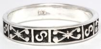 Mittelalter Ring ~ ALAWIN ~ 4 mm - Ornamentik - Antik Silber - Windalf.de