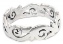 Keltischer Ring ~ TALINA ~ 6 mm - Life-Spirals - Vintage Silber - Windalf.de