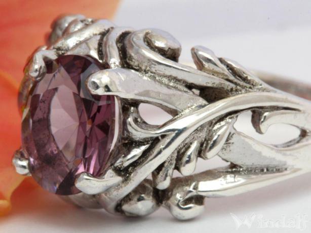 WINDALF Mittelalter Ring MANJA Fairy Ring Amethyst Silber