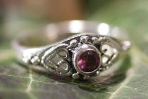 Zarter Damen Ring ~ ANELY ~ Amethyst Kristall - Silber - Windalf.de