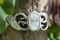 Damen Ring ~ TIÂRA ~ Spirals - Weißer Brillant - Silber - Windalf.de
