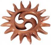 Wanddeko ~ SURIYA ~ Sonnensymbol - Triskele - 33 cm - Handarbeit - aus Holz - Windalf.de