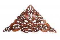 Wanddeko ~ RIGAN ~ h: 47 cm - Celtic Dragons - Handarbeit aus Holz - Windalf.de