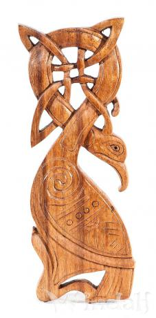 Vogel Holz wandbild marawn keltischer vogel aus holz wandschmuck celtic