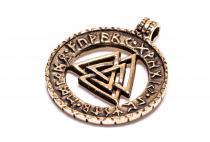 Wikinger Anhänger ~ VALKNUT ~ Wotansknoten - Runen - Bronze - Windalf.de