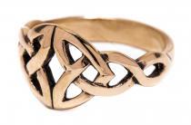 Damenring ~ NARIYA ~ Keltische Herzen - Bronze - Windalf.de