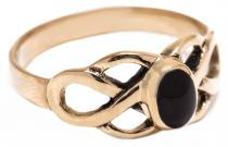 Keltischer Ring ~ BRIGANT ~ Celtic ~ Onyx - Bronze - Windalf.de