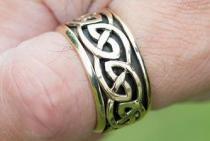 Breiter Keltenring ~ ASKAN ~ h: 1.5 cm - Drehring - Mittelalterschmuck - Hochwertige Bronze - Windalf.de