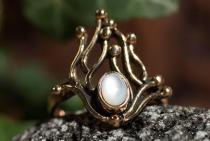 Zarter Ring ~ NÎKA ~ 1.7 cm - Flammenzauber - Perlmutt - Bronze - Windalf.de
