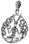 Schmuck Anhänger ~ CERNUNNOS ~ 5,3 cm - Keltischer Waldgott - Vintage Silber - Windalf.de