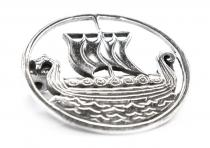 Fibel ~ SVOLD ~ Drachenboot - Viking - Silber - Windalf.de