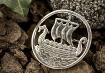 Wikinger Fibel ~ SVOLD ~ Drachenboot - Viking - Silber - Windalf.de