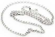 Feine Mittelalter Halskette ~ NILÀ ~ 45 cm - Vikings - Silber - Windalf.de