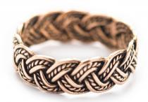 Wikinger Ring ~ ALDAVIN ~ Knotenmuster - Bronze - Windalf.de