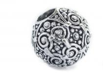 Große Wikingerperle ~ ASKUR ~ 1,8 cm - Silber - Windalf.de