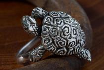 Ring ~ NAMI ~ h: 2 cm - Schildkröte - Silber - Windalf.de