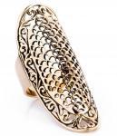 Langer Mittelalter Ring ~ DÊNÍA ~ Fairy Style - h: 5 cm! - Bronze - Windalf.de