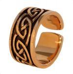 Keltischer Männer-Ring ~ ATHOR ~ Größenverstellbar - Keltischer Knoten - Massiv - Bronze - Windalf.de