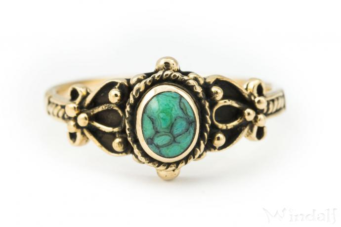Mittelalter Ring ~ SHEELA ~ Türkis - Bronze - Windalf.de