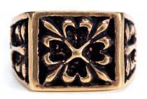 Mittelalter Siegelring ~ WERTHOR ~ Ritter-Ring - Bronze - Windalf.de