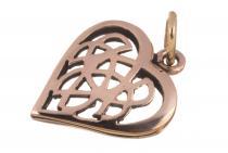 Schmuck Anhänger ~ AMINA ~ h: 2.1 cm - Keltisches Herz - Bronze - Windalf.de