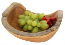 Früchte- & Obstschale ~ MIA ~ Ø 20 cm - Snack Münzen Vorraum-Schale - Handarbeit aus Wurzelholz - Windalf.de
