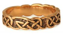 Ring ~ ARKA ~ Keltischer Knoten - Bronze - Windalf.de