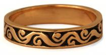 Mittelalter Ring ~ ARCÂNA ~ Spirals - Bronze - Windalf.de