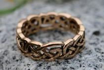 Keltischer Freundschaftsring ~ FIONA ~ Keltischer Knoten - Bronze - Windalf.de
