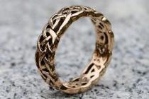 Keltischer Freundschaftsring ~ FIONA ~ 6 mm - Keltischer Knoten - Vintage Bronze - Windalf.de