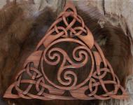 Wandbild ~ ARDANA ~ Keltische Triskele - aus Holz - Windalf.de