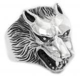 Wikinger Ring ~ ARACOR ~ h: 2.3 cm - Odins Wolf - Wolfsring - Silber - Windalf.de
