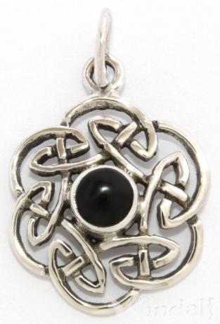 schmuck anh nger nuada keltischer knoten onyx silber 925 silber und bronze pagan. Black Bedroom Furniture Sets. Home Design Ideas
