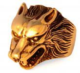 Wikinger Ring ~ ARACOR ~ h: 2.3 cm - Odins Wolf - Wolfsring - Bronze - Windalf.de