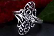Harmony Ring ~ NINA ~ 1.6 cm - Lebens Spiralen - Vintage Silber - Windalf.de